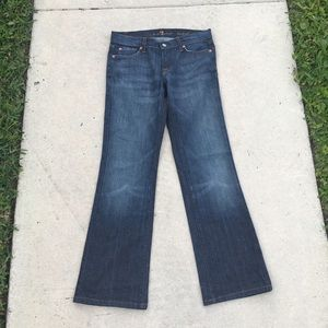 7 For All Mankind Blue Denim Bootcut Jeans